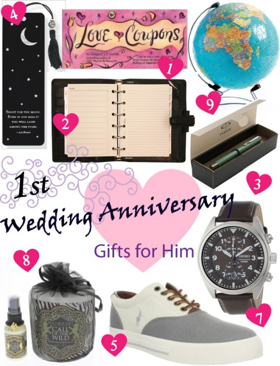 1st Year Wedding Anniversary Gift Ideas For Him : Paper Anniversary Gift Ideas for Him - Vivids