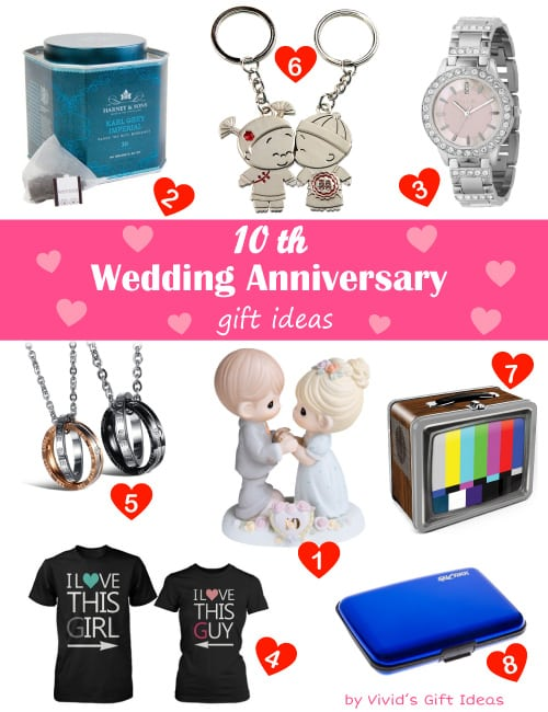 Wedding Anniversary Gift Ideas 10 Years : Traditional & Modern 10 Year Wedding Anniversary Gifts - Vivids