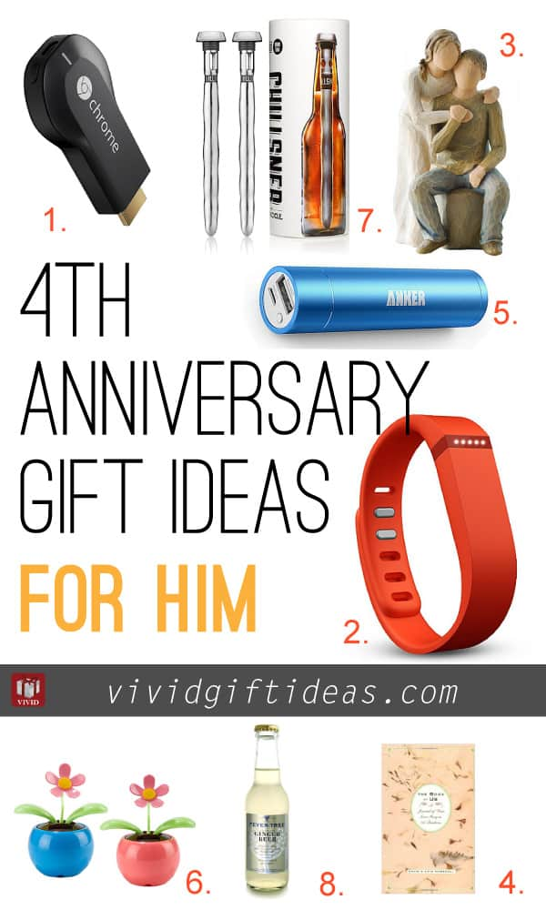 4th Wedding Anniversary Gift Ideas Vivid S