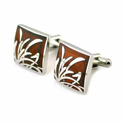 PenSee-Unique-Stainless-Steel-Rosewood-Floral-Cufflinks.jpg