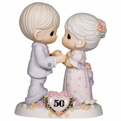 Non Traditional Wedding Gifts For Parents : Sweet and lovely Precious Moments Grey Hair Couple celebrating 50th ...