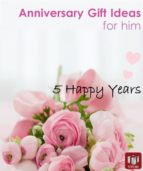 5th Wedding Anniversary Gift Ideas For Him - Vivids