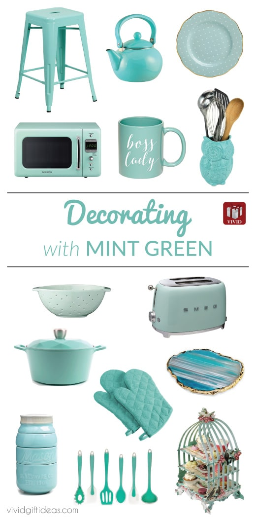 Decorate With 15 Mint Green Kitchen Accessories Vivid S